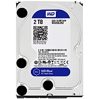 WD Blue 2TB Internal SATA Hard Drive for Desktops Black WD20EZRZSP