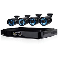 Image of Night Owl 8 Channel Smart HD Video Security System with 1 TB HDD and 4 x 720p HD Cameras - Digital Video Recorder, Camera - 1 TB Hard Drive - 15 Fps - 720 - Composite Video In - Composite Video Out - 4 Audio In - 1 Audio Out - 1 VGA Out - HDMI B-A720-81-4