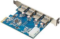 Visiontek 900544 4-Port Expansion Card - USB 3.0 - 1 x PCI Express - Wired photo