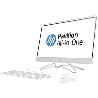 "HP 23.8"" All-In-One Intel Pentium Silver 8GB Memory 1TB Hard Drive HP Finish In Snow White 24-F0010"
