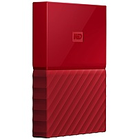 WD My Passport 2TB External USB 3.0 Portable Hard Drive with Hardware Encryption Red WDBS4B0020BRD-WESN