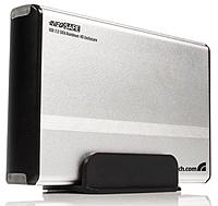 The External Hard Drive Enclosure lets you install a 3.5 inch SATA hard drive for connection to a computer using USB 2.0   a cost effective storage solution for a wide variety of applications including file and application sharing between desktop and laptop computers, data archiving, or simply backing up existing hard drives to preserve data security