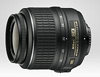 Compact 3x zoom lens covering the most frequently used focal range of 18 to 55 mm
