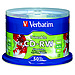 Verbatim 95159 700 MB 4x Silver Inkjet Printable CD-RW Media - 50 Pack Spindle