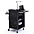 Bretford TCPUL23-BK Multimedia Presentation Cart - Black powder