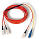Cables To Go 757120270003 3.3 Feet Fiber Optic Mode Conditioning Patch Cable - 2 x SC Male, Male - Orange