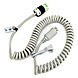 Ergotron 97-464 8 Feet Coiled Extension Power Cord Accessory Kit for Carts - Gray