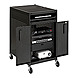 Bretford TC15SAFF-BK Projector Cab Cart - Welded - 4 Outlet - Electric - Black