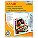 Kodak 8360513 8.5 x 11 inches Glossy Photo Paper for Inkjet Printers - 50 Sheets - White