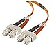Belkin A2F40277-02M 6.6 Feet Fiber Optic Patch Cable - 50/125 micron - 2 x SC Multi-mode Male/Male
