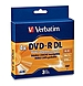 Verbatim 95165 8.5 GB Double Layer Recordable Disc - 2-4x - Jewel Case - 3-Pack