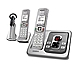 UNIDEN D2380-3H DECT 6.0 Cordless Phone - Digital Answerer - Wireless Headset - Gray