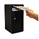 Fire King MS1206 Theft-Resistant Compact Cash Trim Safe with Cash Drop Slots