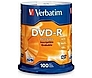 Verbatim 023942951025 95102 4.7 GB DVD-R - 16x - Spindle - 100-Pack