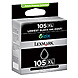 Lexmark 14N0822 No. 105XL Ink Cartridge - 510 Pages Yield - 1-Pack - Black