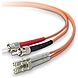 Belkin F2F402L0-10M 32.81 Feet Multimode Duplex Fiber Patch Cable - 2 x LC Male Network, 2 x ST Male Network