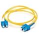C2G 2m SC-SC 9/125 OS1 Duplex Singlemode PVC Fiber Optic Cable - Yellow - Fiber Optic for Network Device - SC Male - SC Male - 9/125 - Duplex Singlemode - OS1 - 2m - Yellow