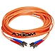 Axiom STSTMD5O-2M-AX Fiber Optic Duplex Cable - Fiber Optic for Network Device - 6.56 ft - 2 x ST Male Network - 2 x ST Male Network