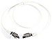 Siemon Tera to Tera 4 Prong Patch Cable Assembly - Cat7 - 1m - white/grey