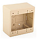 Hellermann Tyton TSRI-JBD2 Dual Gang Junction Box - Polyvinyl Chloride - Ivory