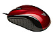 V7 MV3010010RED5NB Mid-Size USB Optical Mouse - Wired - 1000 dpi - Red