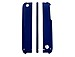 Trexta 813365014502 Snap it On Cell Phone Case - iPhone 3G/3GS - Blue / White Leather