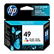 HP 49 Tri-color Original Ink Cartridge - Multicolor - Inkjet - 350 Page - 1 Each - Retail