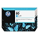 HP 80 Cyan Ink Cartridge - Cyan - Inkjet - 4400 Page - 1 Each - Retail
