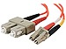 C2G 33016 9.8 Feet Duplex 50/125 Multimode Fiber Patch Cable - 2 x LC Male, 2 x SC Male - Orange