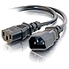 C2G 3ft Computer 18 AWG Power Cord Extension (IEC320C14 to IEC320C13) - 3ft