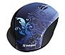 Verbatim 97785 Wireless Notebook Optical Mouse - Design Series - Blue