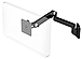 Humanscale M2HB2S-IND M2 Articulating Arm with Direct Hardwall Mount for LCD Monitor - Black