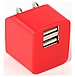 Accellorize 890968703224 ACAL70322 USB Folding Wall Charger - Red