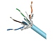 Belkin Cat. 6a STP Solid Cable - Bare Wire - Bare Wire - 1000ft - Aqua