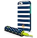 Dabney Lee ICPB6P01CA Stripes Case with Polka Dot Design Power Bank for iPhone 6 Plus - White, Blue