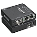 Black Box Standard Media Converter Switch - 2 x RJ-45 , 1 x SC Duplex - 10/100Base-TX, 100Base-X - External, Rack-mountable