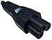 Encore UPC-C5 6 Feet Power Cable - 3 Slot - 18 AWG - NEMA 1-15p to IEC320C5 - Black