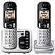 Panasonic KX-TGC222S DECT 6.0 1.90 GHz Cordless Phone - Silver - Cordless - 1 x Phone Line - 1 x Handset - Speakerphone - Answering Machine - Caller ID - Hearing Aid Compatible - Backlight
