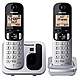 Panasonic KX-TGC212S DECT 6.0 1.90 GHz Cordless Phone - Silver - Cordless - 1 x Phone Line - 1 x Handset - Speakerphone - Caller ID - Hearing Aid Compatible - Backlight