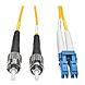 Tripp Lite Duplex Singlemode 8.3/125 Fiber Patch Cable - (LC/ST), 7M (23-ft.)