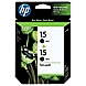 HP 15 2-pack Black Original Ink Cartridges - Inkjet - 500 Page - 2 / Pack