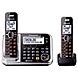 Panasonic Link2Cell KX-TG7872S DECT 6.0 1.90 GHz Cordless Phone - Black - Cordless - 1 x Phone Line - 1 x Handset - Speakerphone - Answering Machine - Caller ID - Backlight