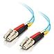 C2G 0.5m LC-LC 10Gb 50/125 OM3 Duplex Multimode PVC Fiber Optic Cable - Aqua - Fiber Optic for Network Device - 1.64 ft - 1 x LC Male Network - 1 x LC Male Network - Aqua