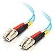 1m LC-LC 10Gb 50/125 OM3 Duplex Multimode PVC Fiber Optic Cable - Aqua - Fiber Optic for Network Device - LC Male - LC Male - 10Gb - 50/125 - Duplex Multimode - OM3 - 10GBase-SR, 10GBase-LRM - 1m - Aqua