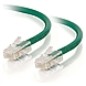 7ft Cat5e Non-Booted Unshielded (UTP) Network Patch Cable - Green - Category 5e for Network Device - RJ-45 Male - RJ-45 Male - 7ft - Green