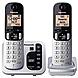 Panasonic KX-TGC222S DECT 6.0 1.90 GHz Cordless Phone - Silver - Cordless - 1 x Phone Line - 1 x Handset - Speakerphone - Answering Machine - Hearing Aid Compatible - Backlight