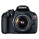 Canon EOS Rebel T5 18 Megapixel Digital SLR Camera with Lens - Black - 3