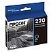 Epson DURABrite Ultra Ink T220 Ink Cartridge - Black - Inkjet - Standard Yield - 1 Each