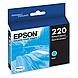 Epson DURABrite Ultra Ink T220 Ink Cartridge - Cyan - Inkjet - Standard Yield - 1 Each