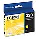 Epson DURABrite Ultra Ink T220 Ink Cartridge - Yellow - Inkjet - Standard Yield - 1 Each